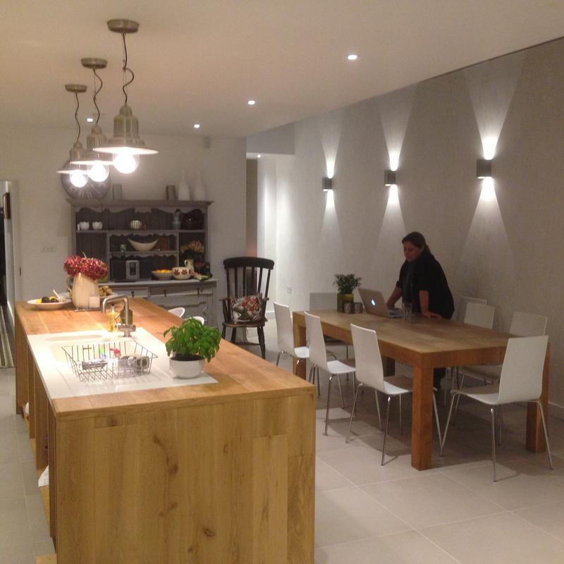 Image 4 - Bespoke kitchen including a large oak clad island unit and matching oak dining table as part of a complete refurbishment, extension and loft conversion of the clients home