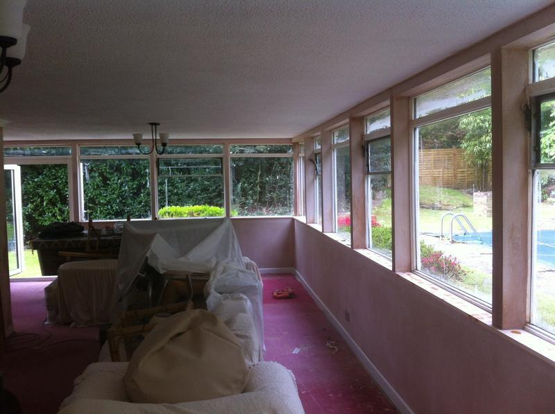 Image 48 - Large extension insulated, plasterboarded and plastered