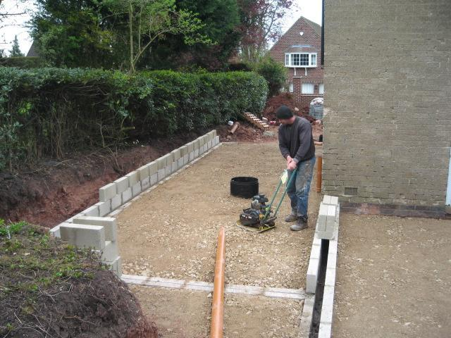 Image 26 - the foundations are set and the groundwork begins March 2012