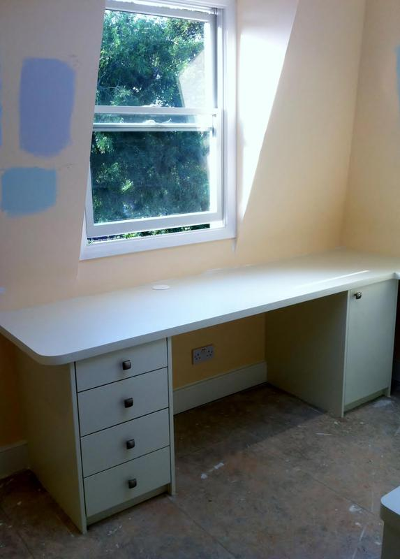 Image 30 - Fitted office desk with drawers
