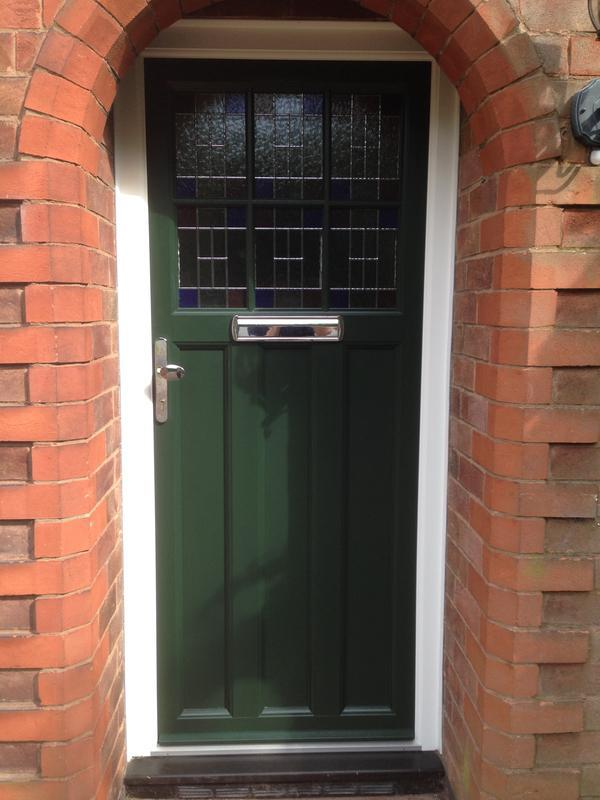 Image 77 - Cropston - Home Renovation - Timber Look PVC Door Olive Green