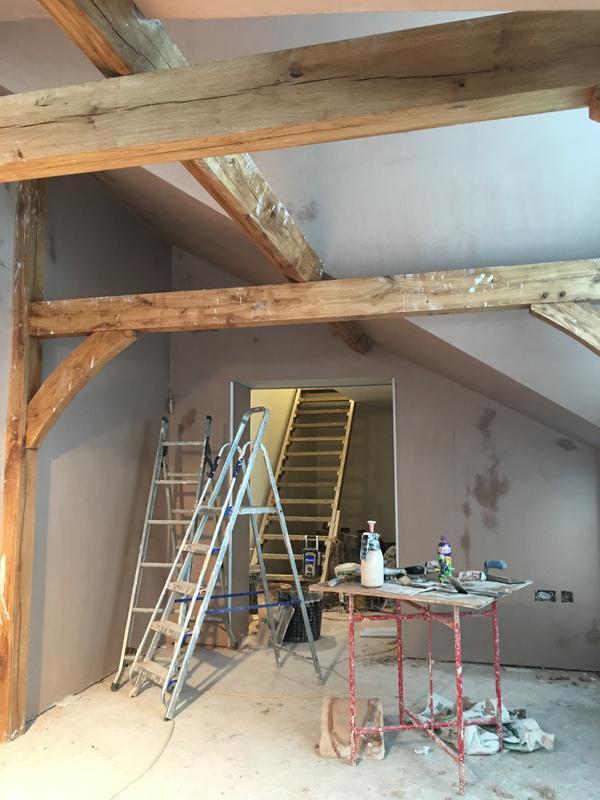 Image 8 - Oak orangery plastered