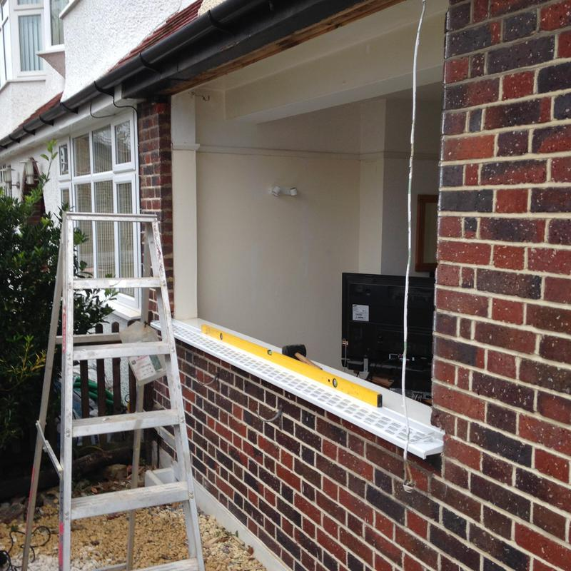 Image 20 - during installation of a new white upvc double glazed window with dummy sash casements