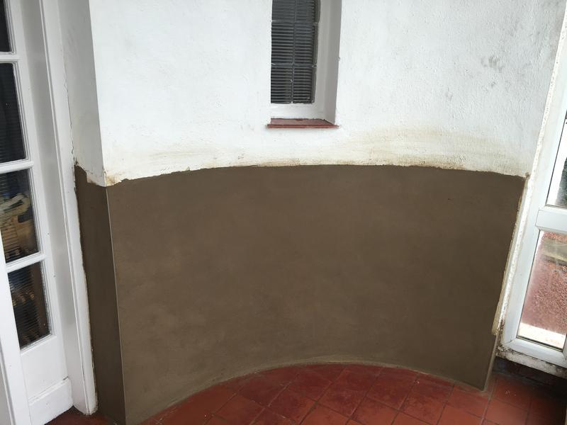 Image 7 - A nice bit of rendering after some damp proofing works.