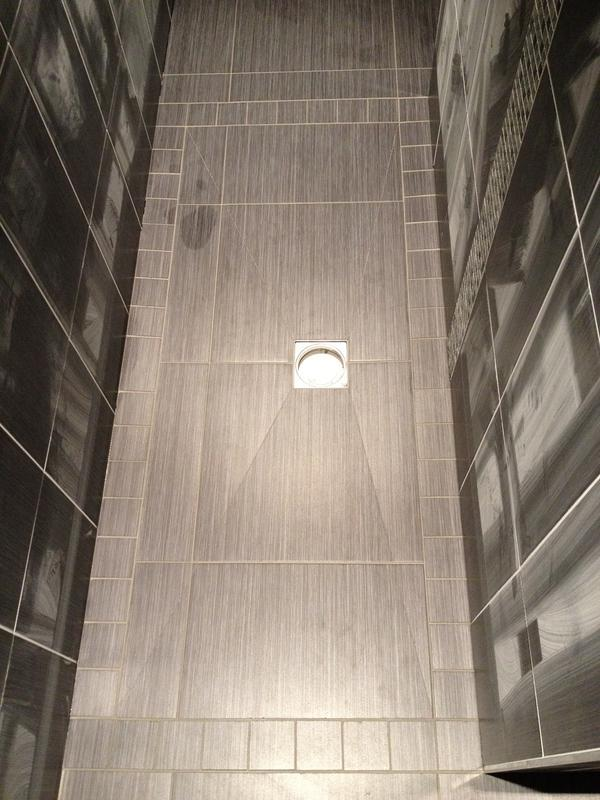 Image 94 - Tile on Wetroom Showertray