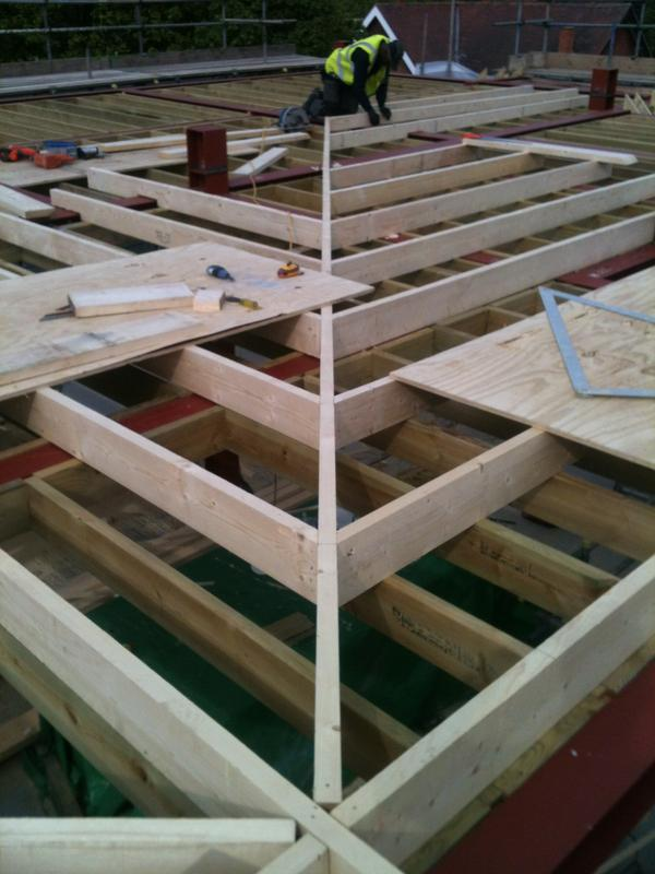 Image 15 - Flat roof fall creating using made firrings