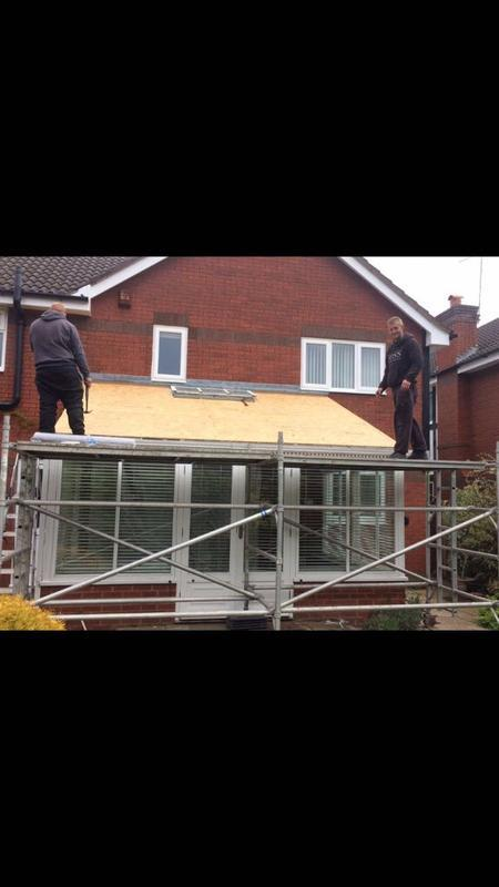 Image 73 - Conservatory Roof during tiling