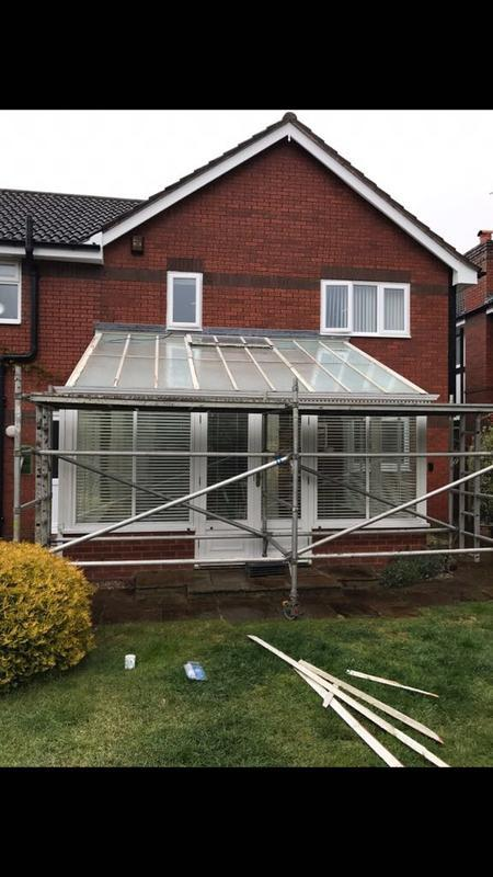 Image 72 - Conservatory roof before tiling