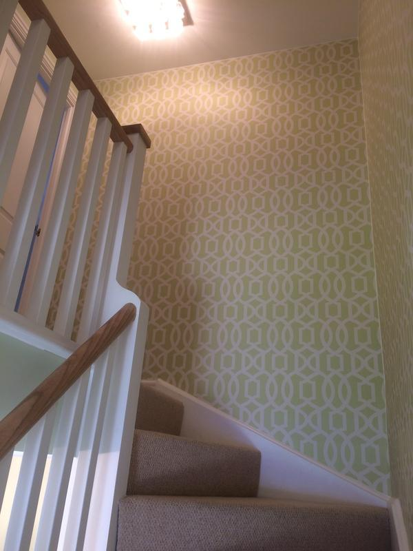 Image 1 - Wall papering stairway