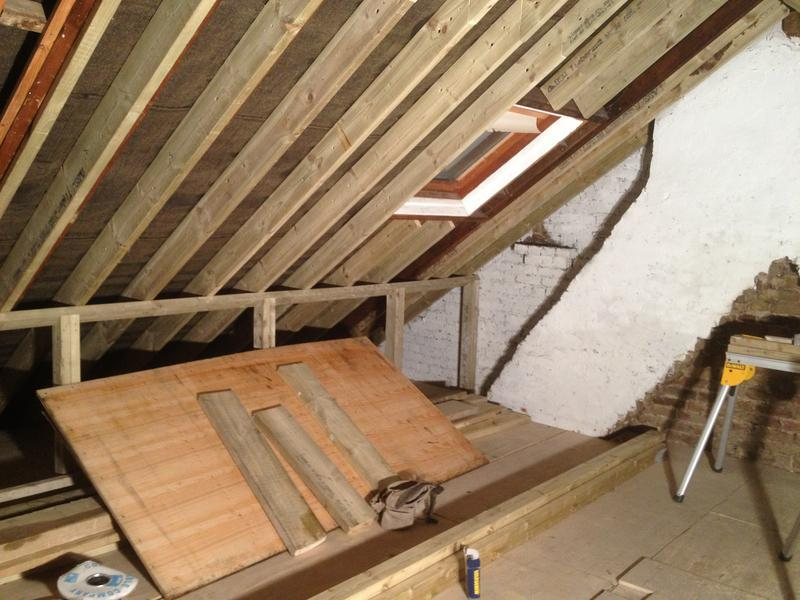 Image 8 - attic work 1st fix stage 3