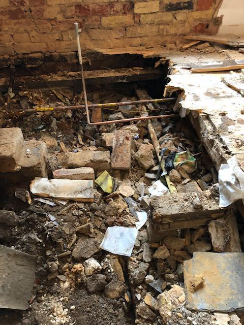 Image 17 - Dry Rot Treatment: Dry Rot affected Timbers and sub-floor rubble removal