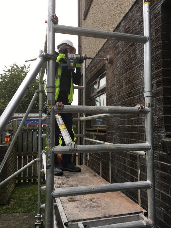 Image 8 - Coring out as part of our condensation management programmed works