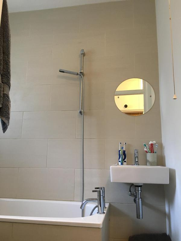Image 48 - We did the tiling as well including the bath panels. The end panel is removable for maintenance purposes.