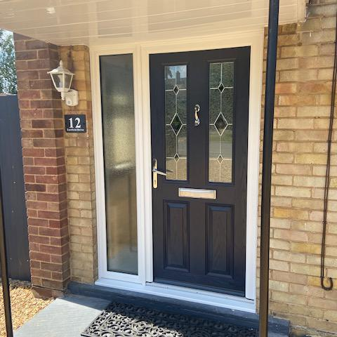 Image 2 - Composite Door with side screen, Anthracite grey, Whittlesea