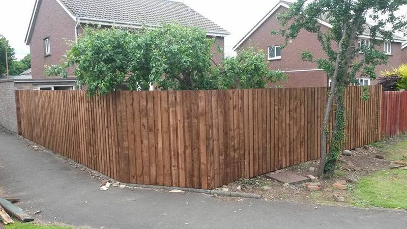 Image 35 - 6 ft Double Slatted Fencing, Pre-Stained