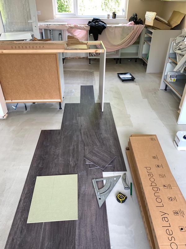 Image 15 - A Howdens Kitchen installation. Vinyl Floor installation.
