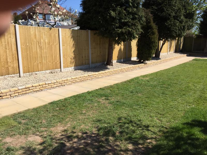 Image 75 - New garden wall, pathway and feathered get fencing