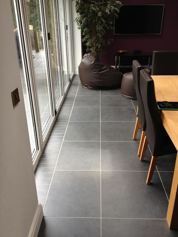 Image 4 - 60cm x 60cm Rectified porcelain floor