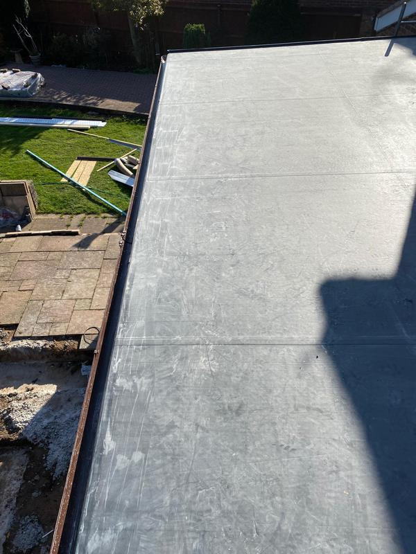 Image 13 - Completed EPDM roof.
