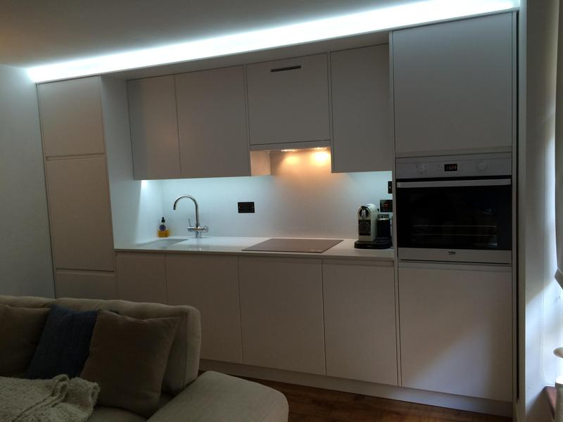 Image 25 - Bespoke kitchen . Butlers Wharf London. Including quartz worktop and back panel.
