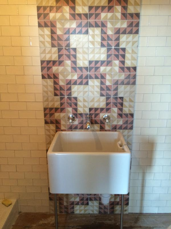 Image 5 - Canterbury Rd victorian reclaimed tiles and belfast sink in wetroom