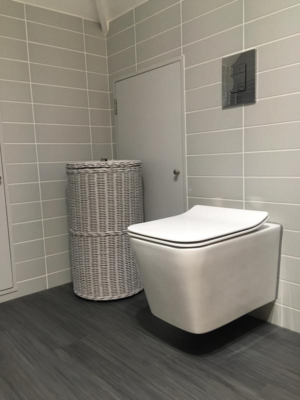 Image 120 - En-Suite shower room with bespoke shower door and  Wall hung toilet and basin Hornchurch RM113NZ