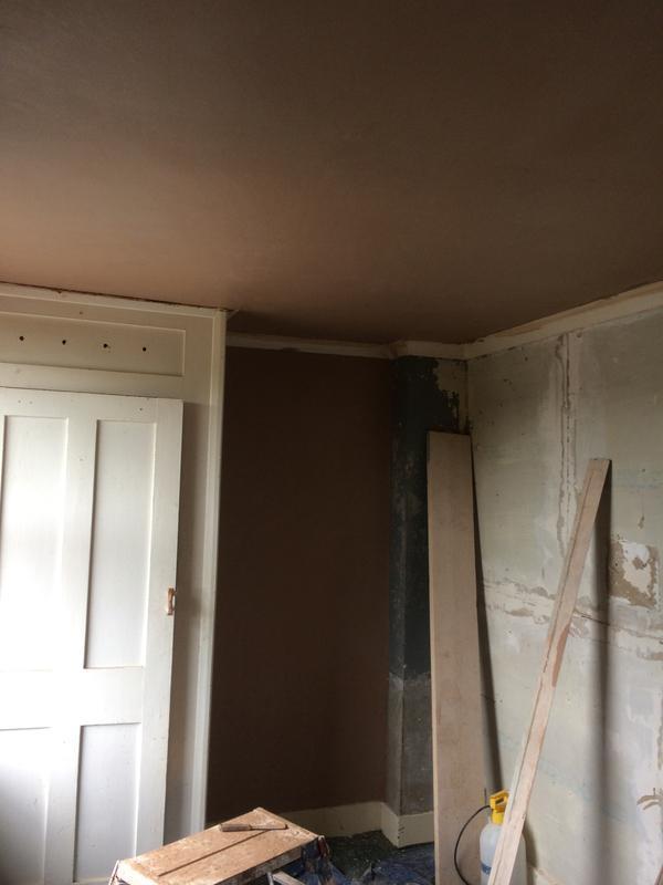 Image 2 - ceiling bonded then plastered.
