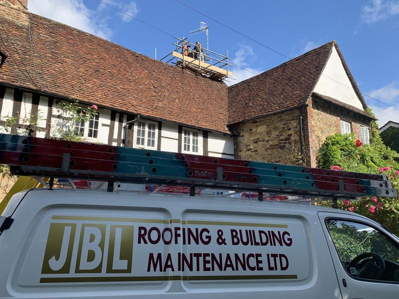 Image 19 - Listed building work's specialist's Chimney stack rebuilding in Shere Surrey on a grade 2 listed property dating back to the 1600s