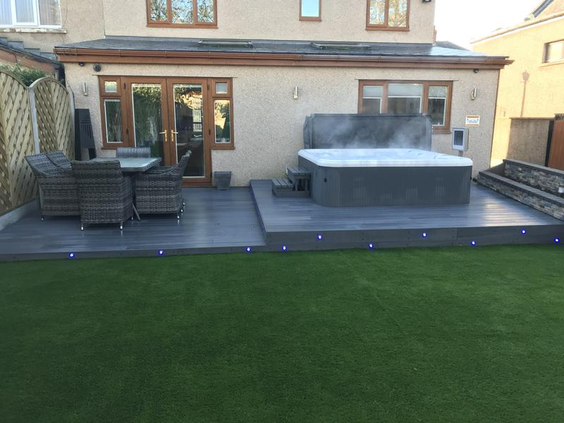 Image 13 - Single storey extension and garden makeover, composite decking and artificial grass.