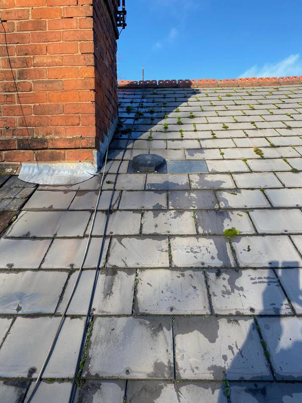 Image 9 - Chimney re-pointing to our customers half, look at the difference.