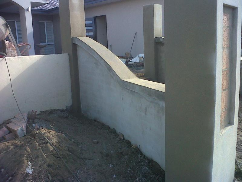 Image 48 - External sand & cement rendering