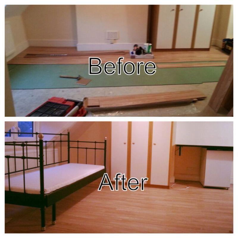 Image 3 - Laminate flooring and i assembled the bed from  ikea