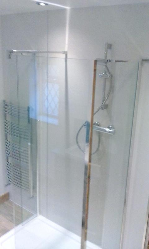 Image 6 - The customers then benefitted from a lovely luxury family bathroom with bath & shower, tiles & wall panels...