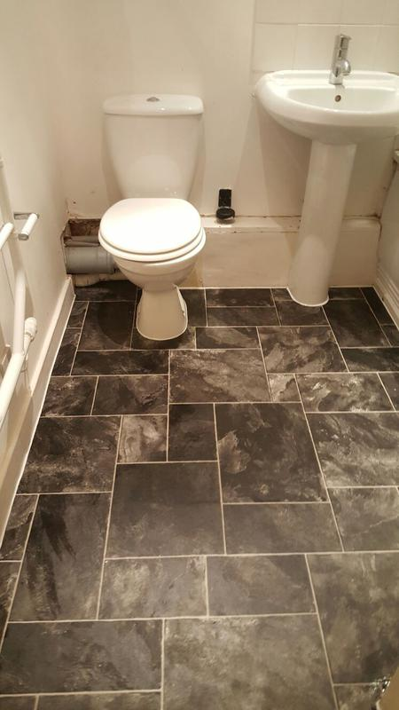 Image 28 - New lino fitted in bathroom
