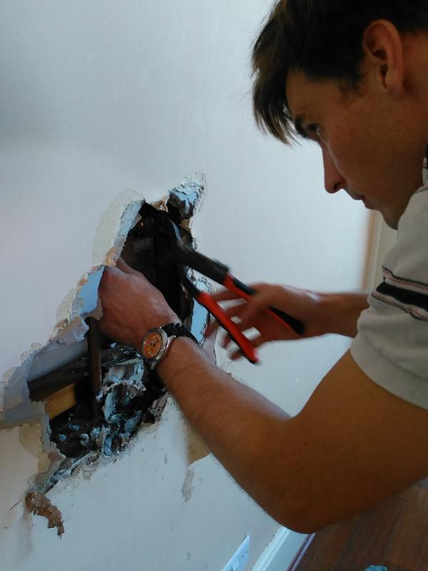 Image 3 - Fixing a leak on a concealed shower