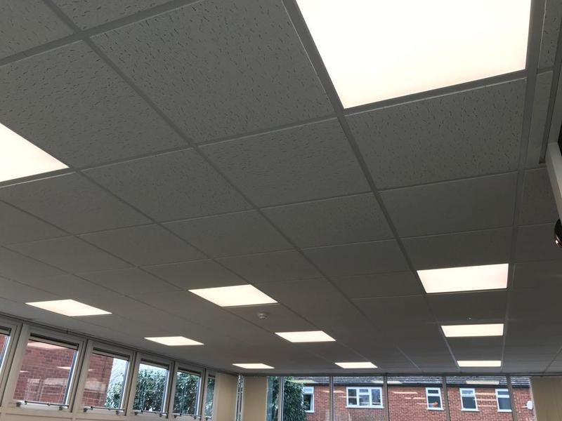 Image 9 - LED panel lighting in local library