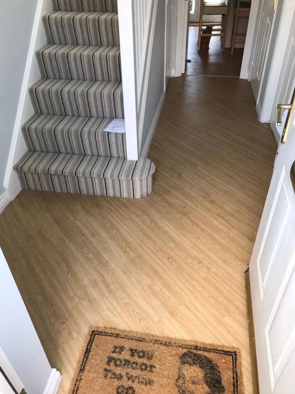 Image 20 - Shetland berber stripe and Camaro LVT laid diagonally