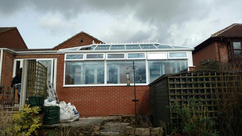 Image 12 - new build conservatory with a 1300 base and wall build up in the smalley area