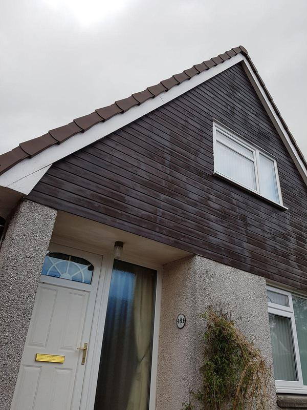 Image 23 - And finished with brown upvc dry verge system