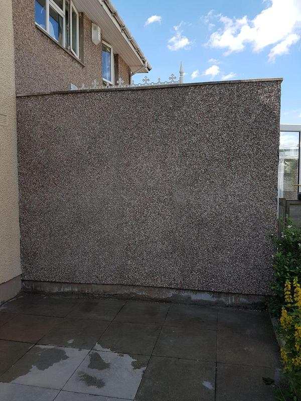 Image 31 - Wall completed new roughcast applied