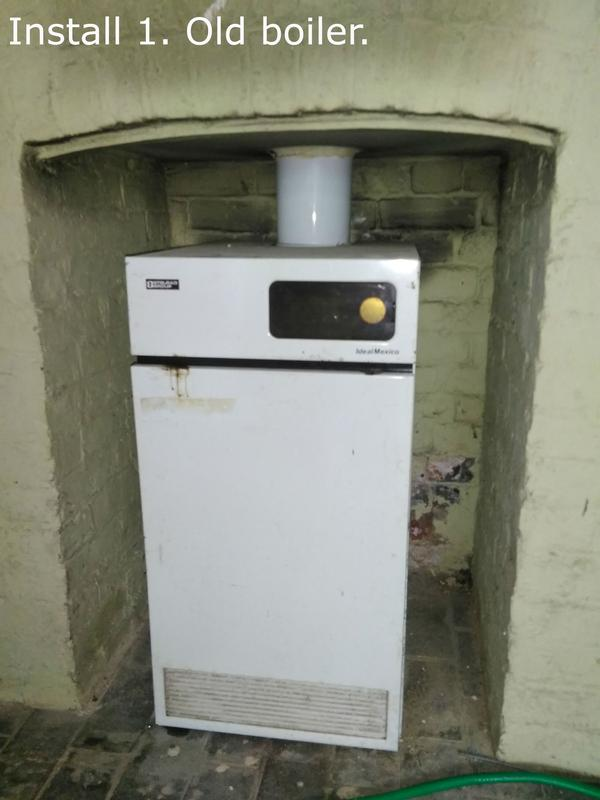 Image 18 - Install 1. Old boiler which is less than 60% efficient.