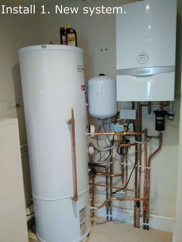 Image 16 - Install 1. New boiler and 250 litre unvented cylinder. The new boiler is upto 98% efficient and comes with 10 year guarantee on parts and labour.