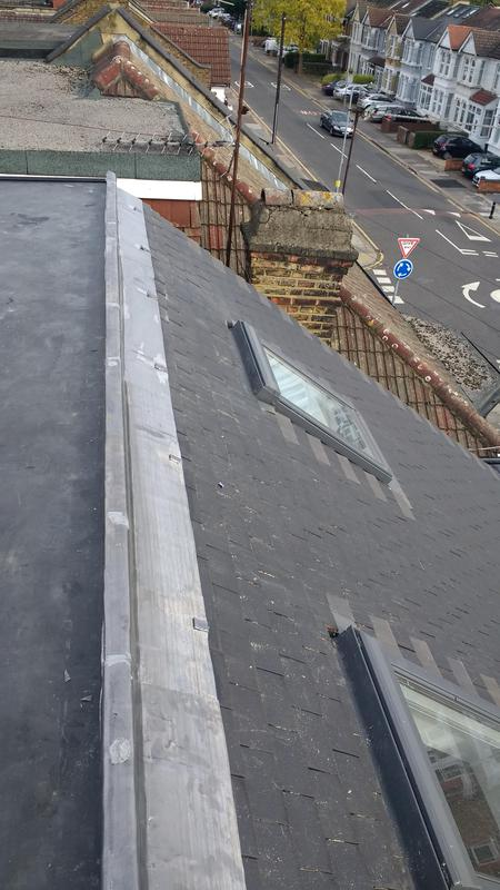Image 39 - code 5 lead ridge on rubber roof