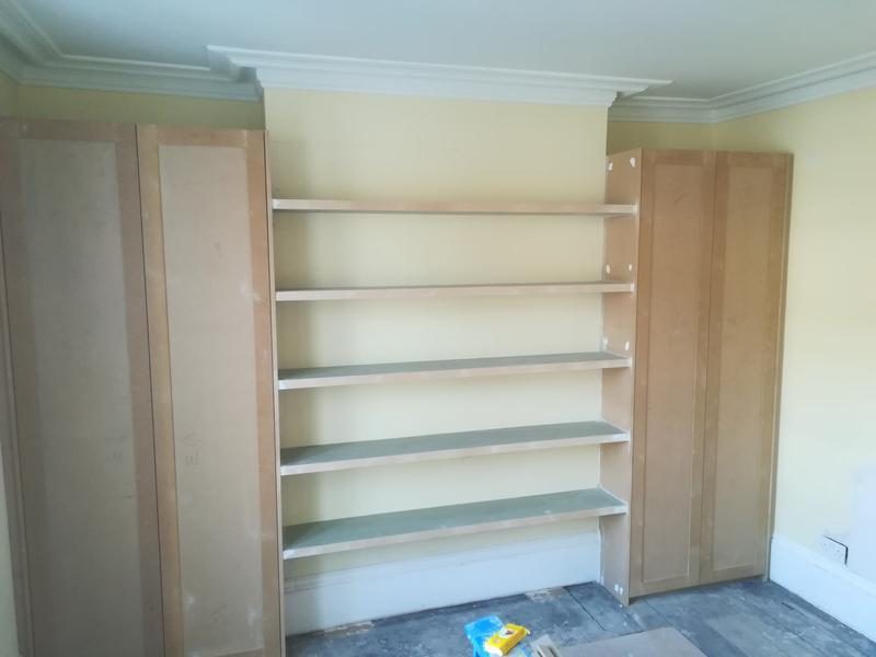 Image 54 - MDF Wardropes and shelves before