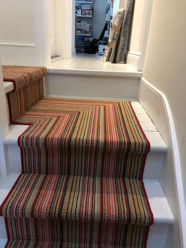 Image 54 - Our fitters are good in following the pattern and direction on landings when it comes to stripe carpet designs.