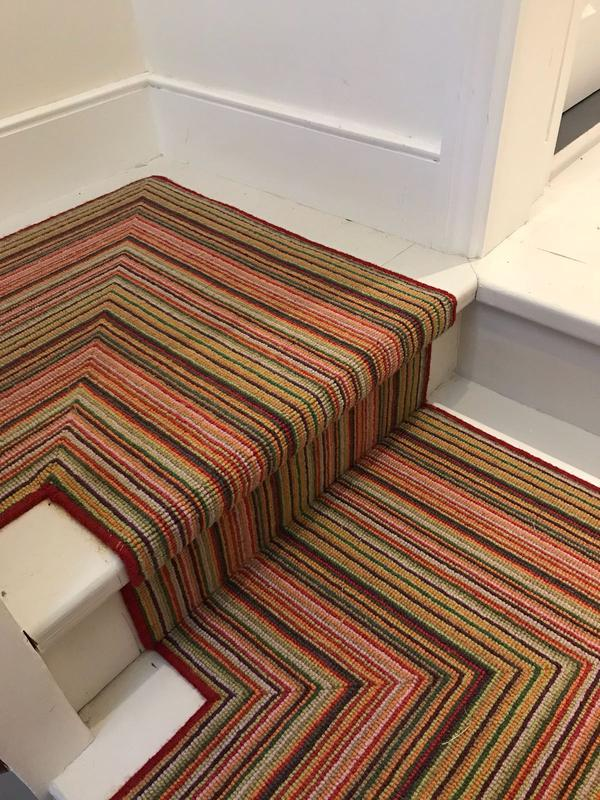 Image 56 - Our fitters are good in following the pattern and direction on landings when it comes to stripe carpet designs.