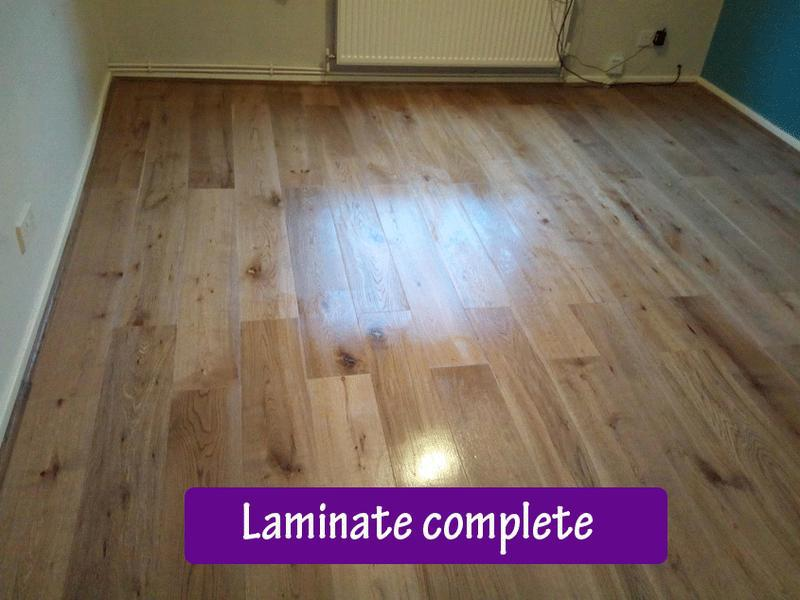 Image 58 - Laminating complete in living room