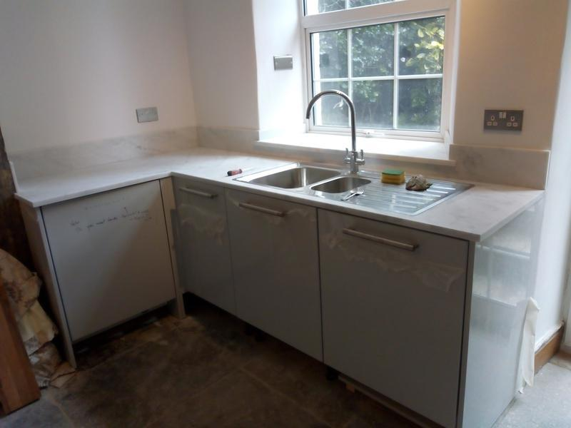 Image 11 - Minerva work tops (Solid Acrylic) - part of total house refurb including bathroom, en-suite, full redecoration, bespoke alcove cupboards, etc - Hungry Lane, Bradwell.