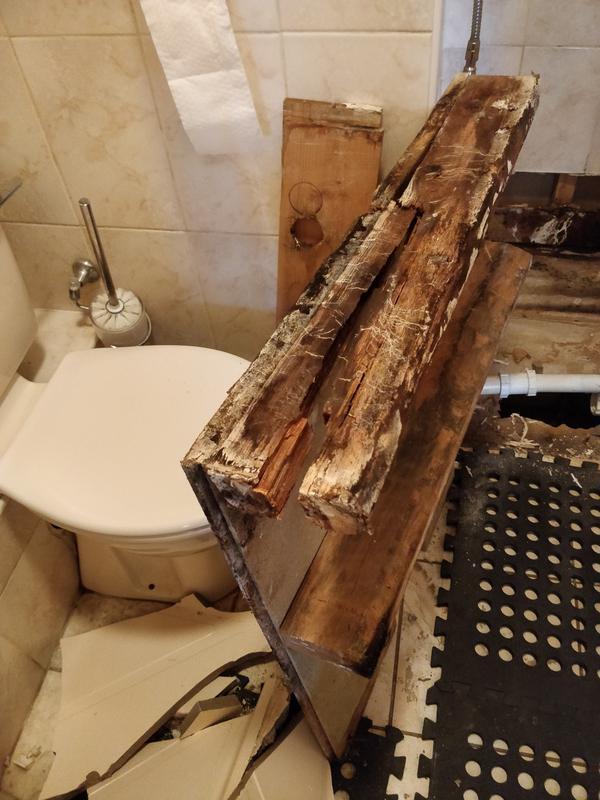 Image 57 - Leaking shower tray base