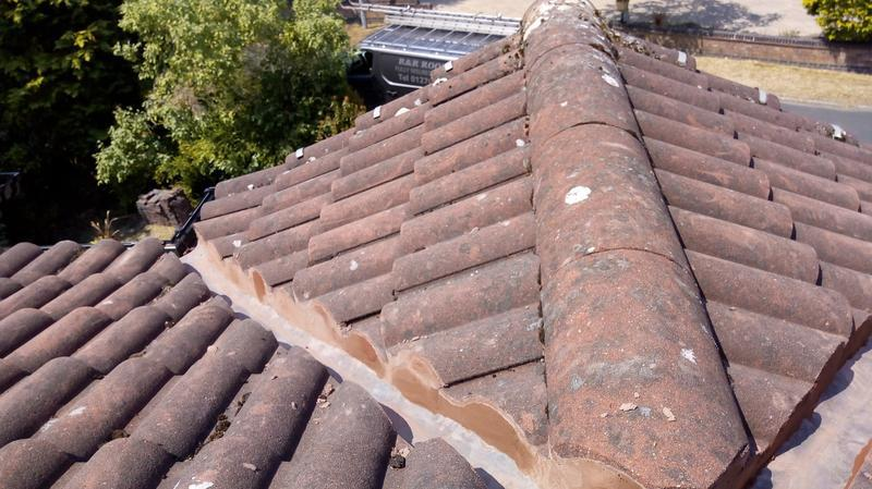 Image 17 - after the repair to valley walls this roof valley is watertight.